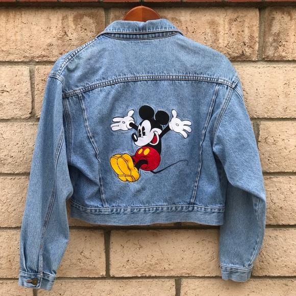 761b5a7922 Vintage Disney Mickey Mouse Denim Jacket